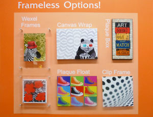 Framless Framing Options