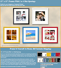 "12"" x 12"" Social Media Frames with Matting"